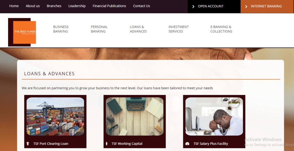seed fund savings and loans